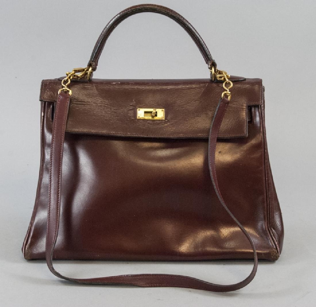 Hermes Paris Vintage Leather Kelly Hand Bag Purse