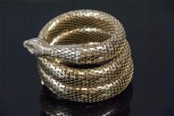 Vintage Whiting & Davis Coiled Snake Bracelet