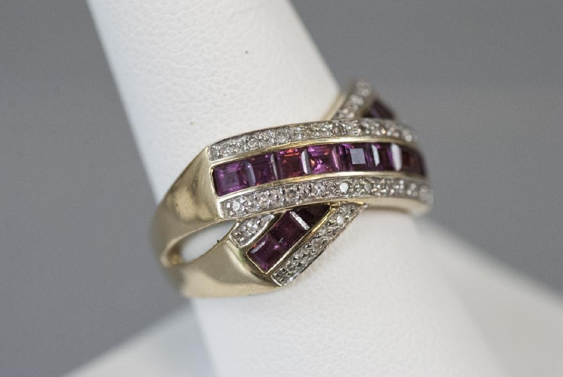 Estate 14kt Yellow Gold Ruby & Diamond Ring - 2