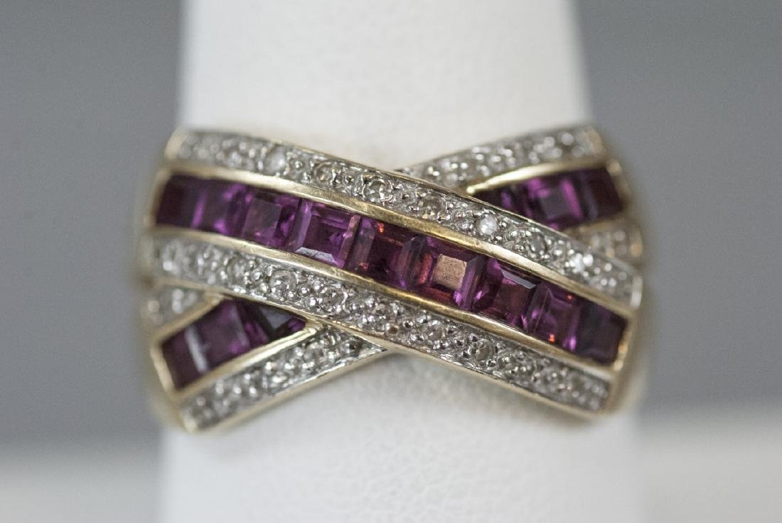 Estate 14kt Yellow Gold Ruby & Diamond Ring - 3