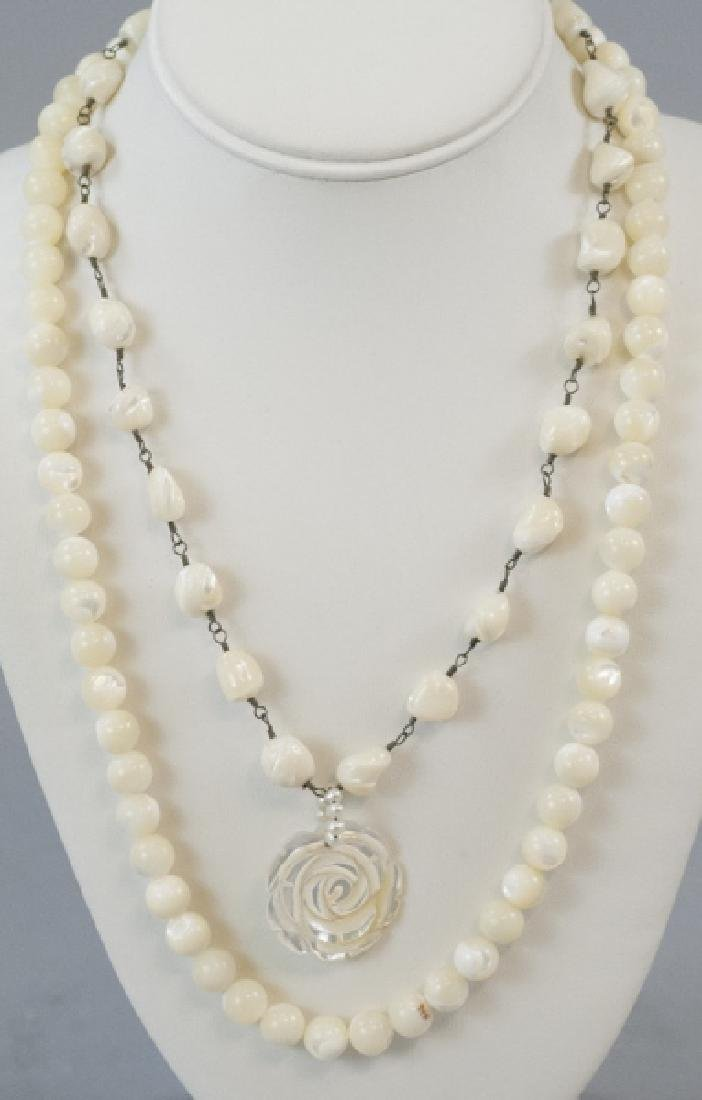 Two Estate / Vintage Mother of Pearl Necklaces