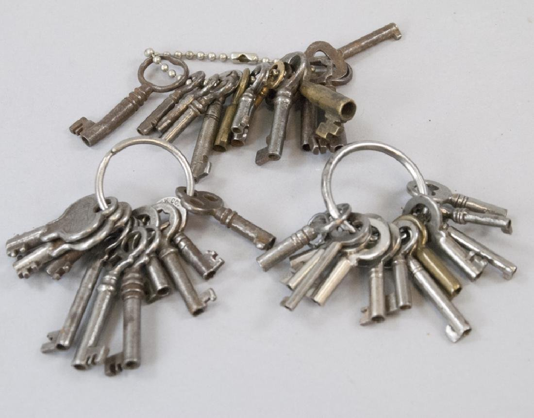 Collection of Small Scale Antique Skeleton Keys