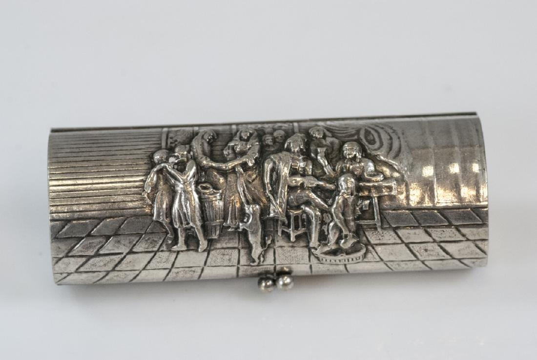 Vintage Repousse Silver Plate Compact or Case