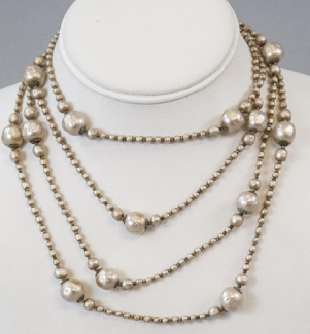 Vintage Miriam Haskell Faux Pearl Necklace Strand