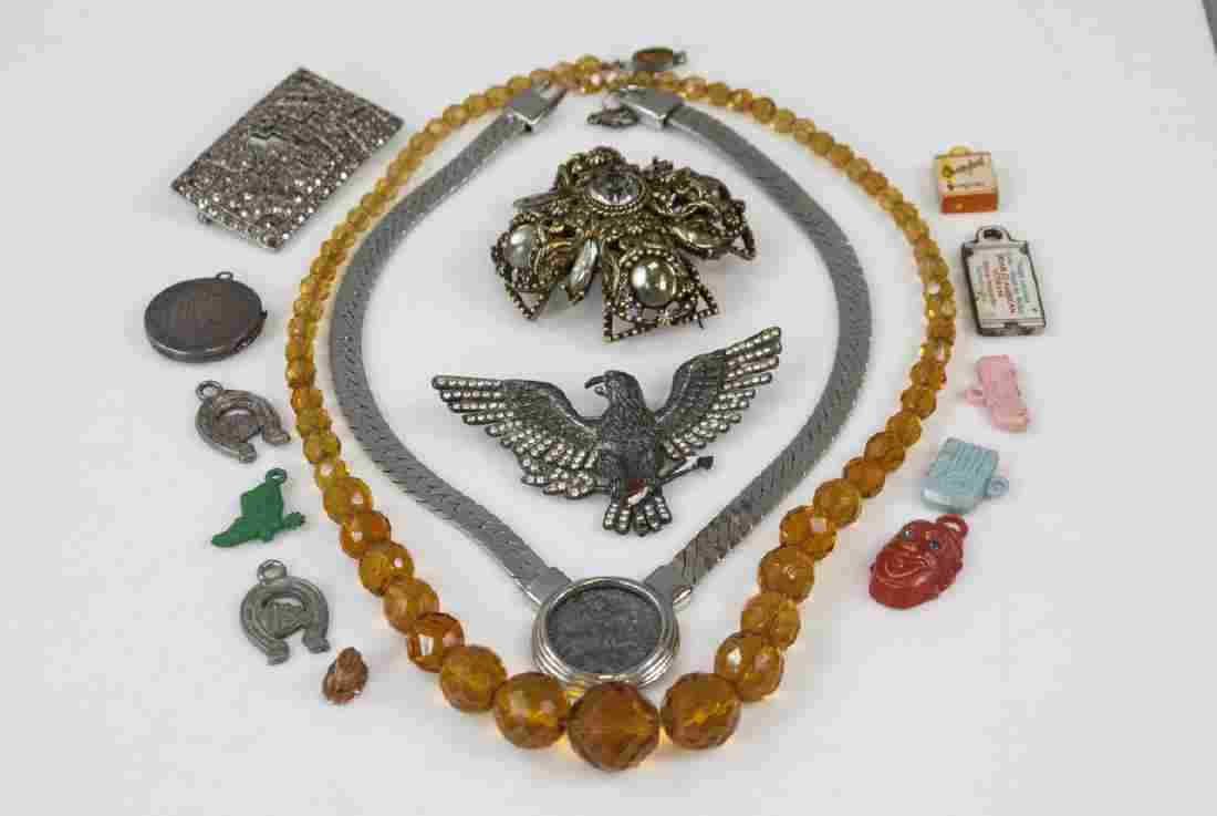 Assorted Antique & Vintage Jewelry Pieces & Parts