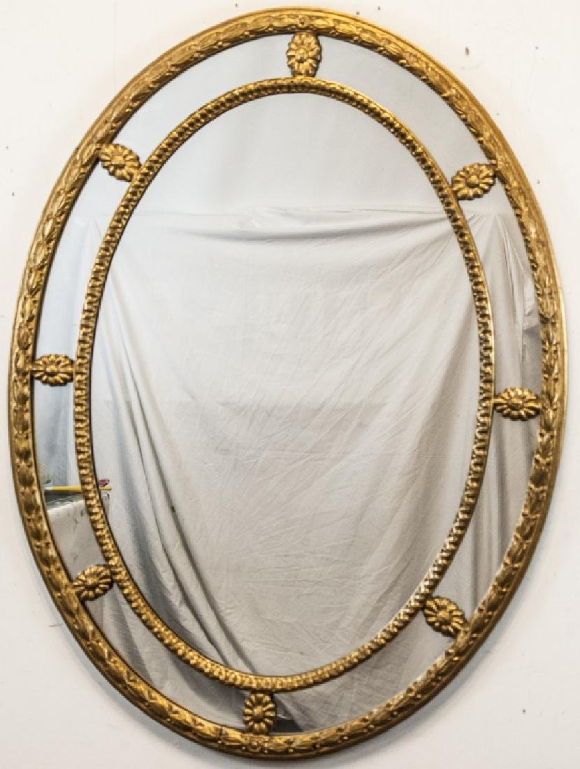 Oval Gilt Wood Framed Regency Mirror