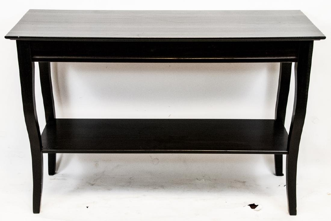 One Dark Brown Traditional Sofa Table