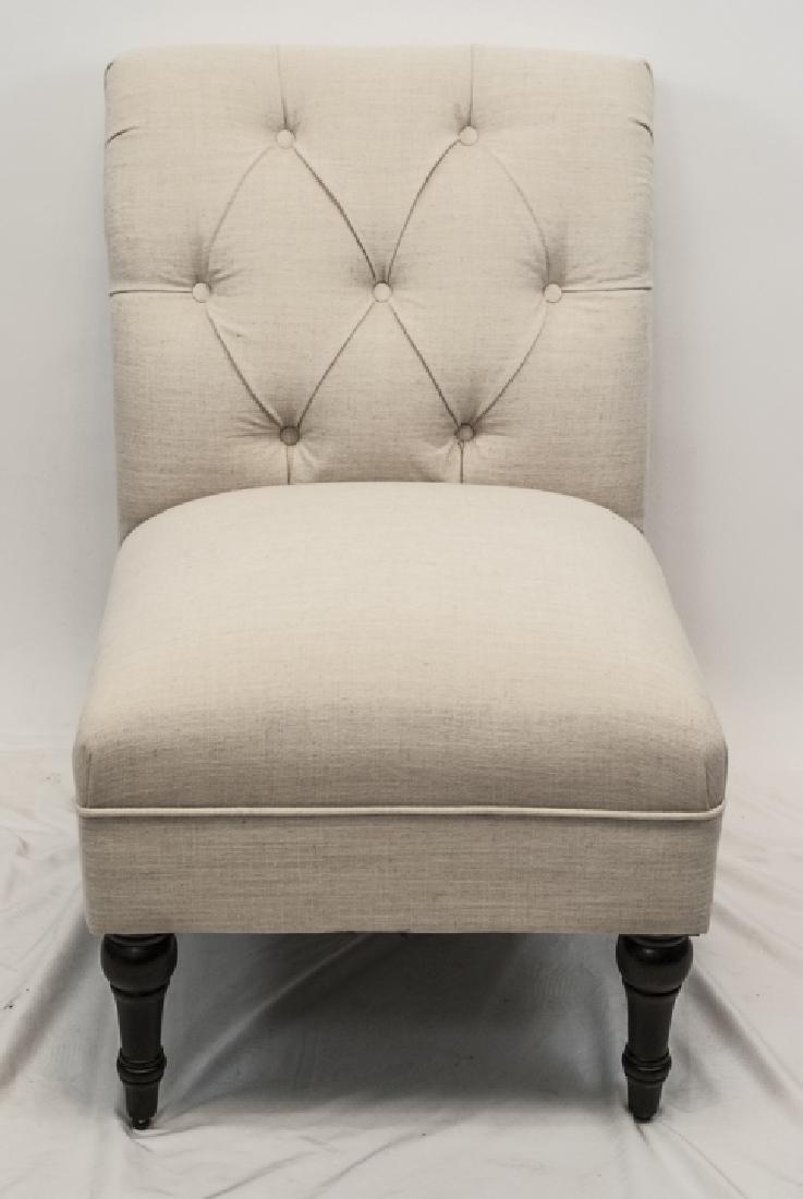 Contemporary Upholstered Oat Slipper Chair