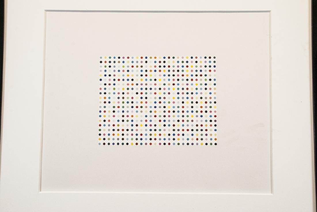 Modern Framed Abstract Dot Print