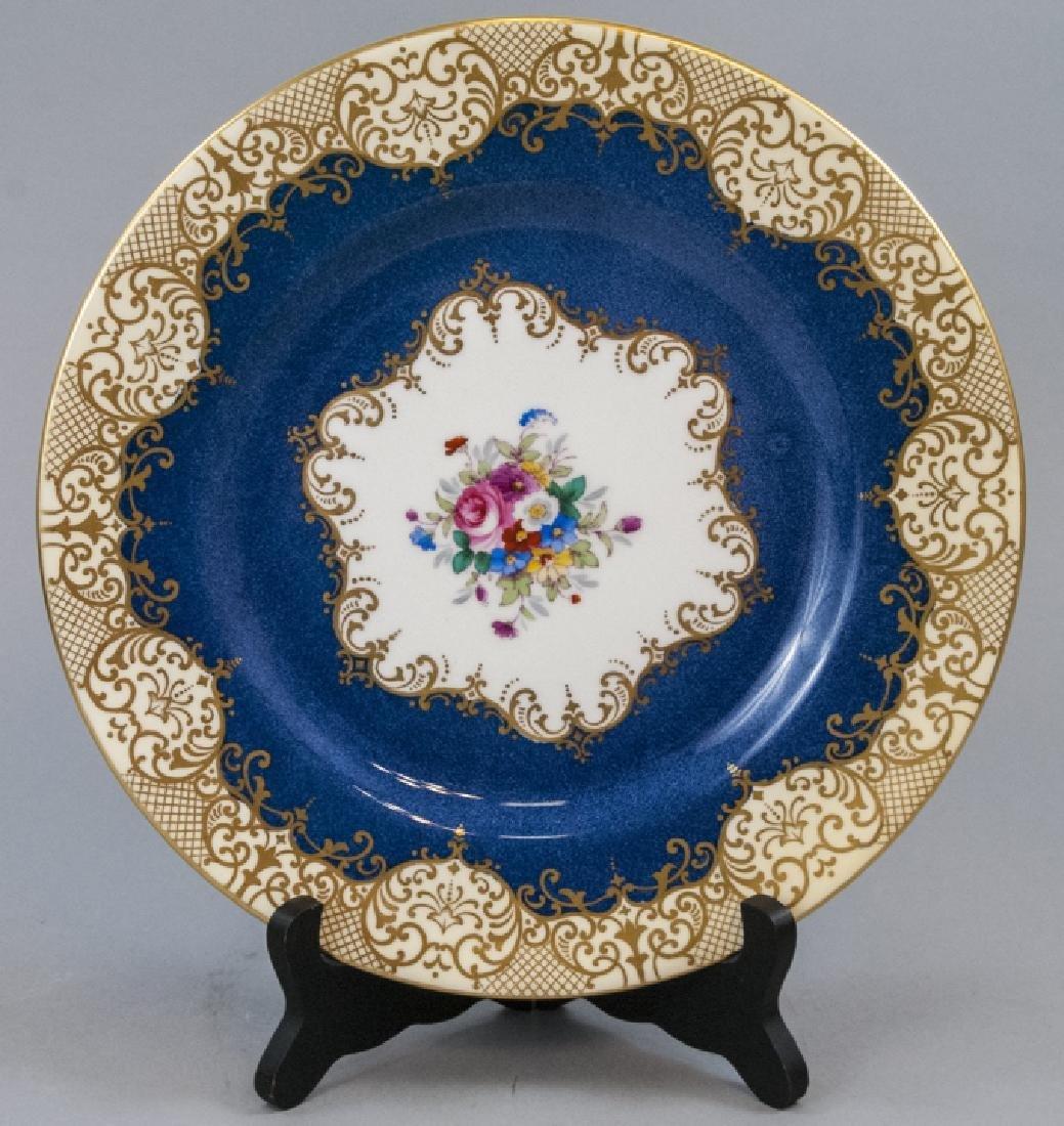 Crown Staffordshire Cobalt Band Dinner Plate