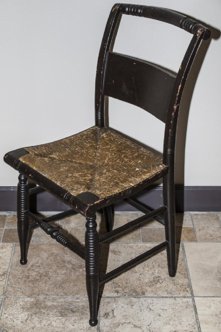 Antique Hitchcock Style Turned Leg Side Chair