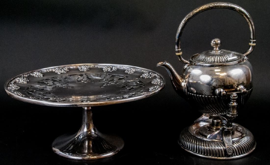 Vintage Wilcox Tilting Tea Pot, Victor Cake Stand
