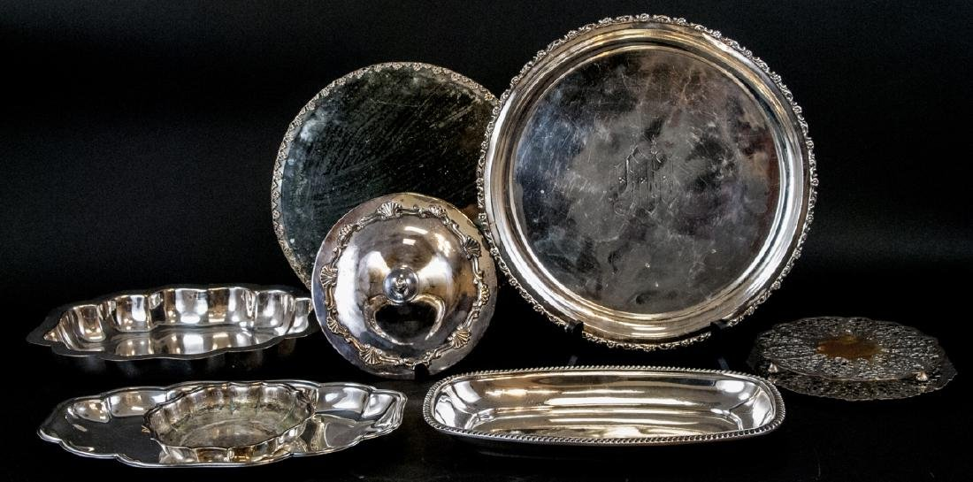 Lot Vintage Silver Plate Serving Items