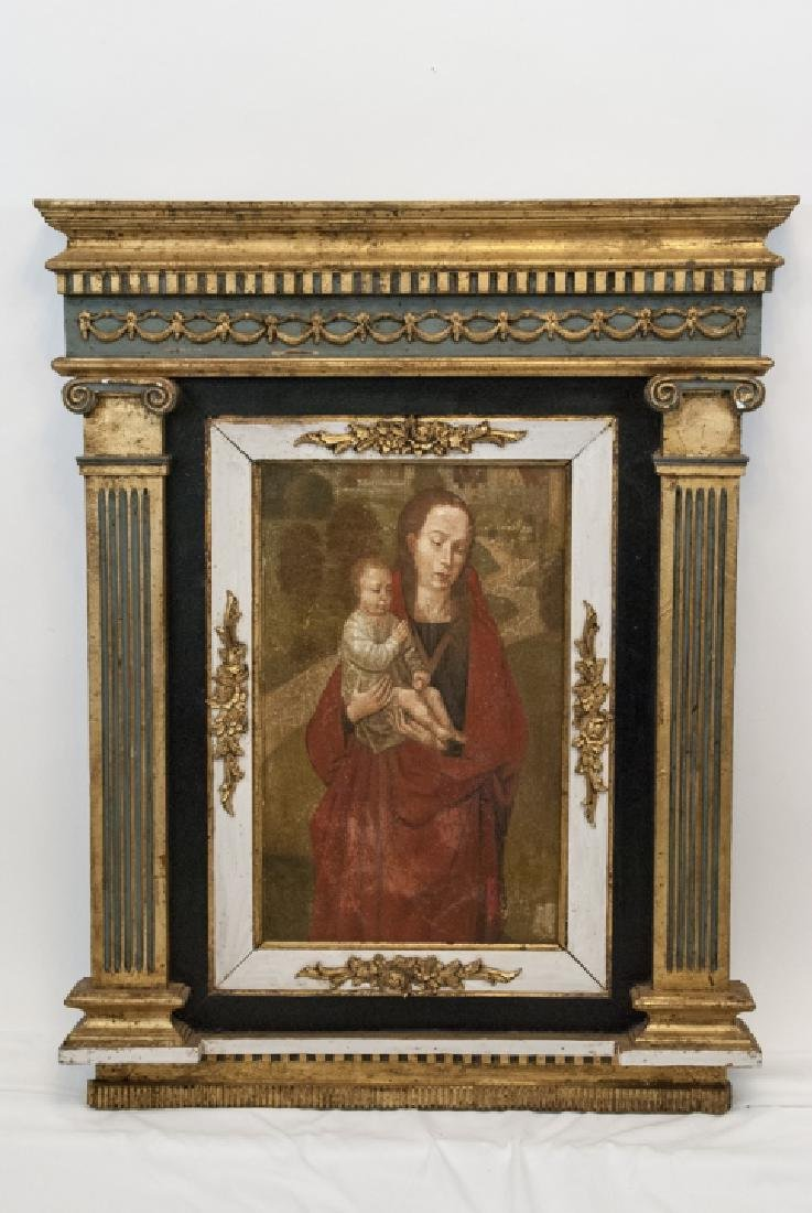 Antique Italian Painting of Madonna & Child
