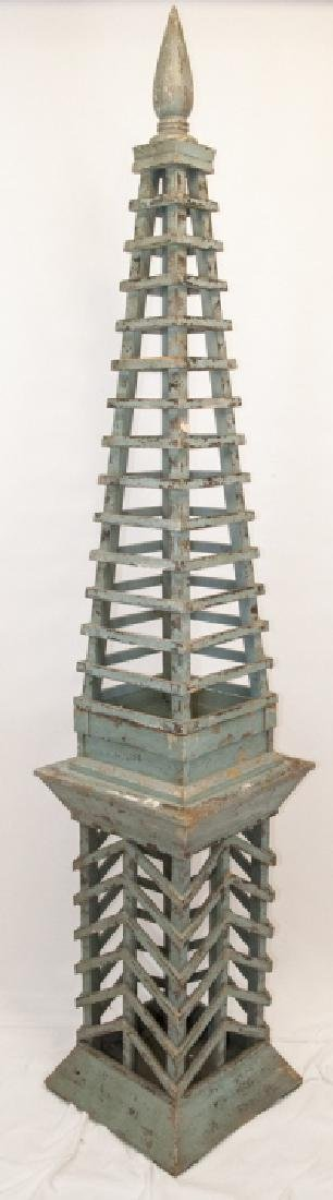 Custom Made Hand Built Obelisk Statue on Base
