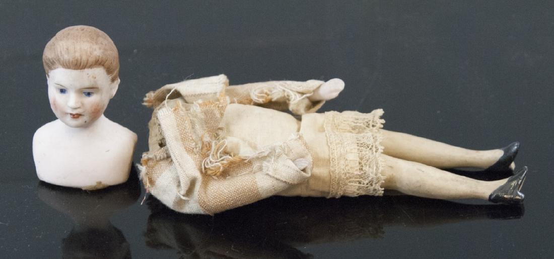 Antique German Dollhouse Bisque Head Doll