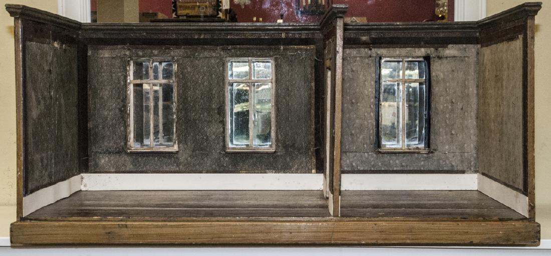 Antique German Two Room Dollhouse Room Box