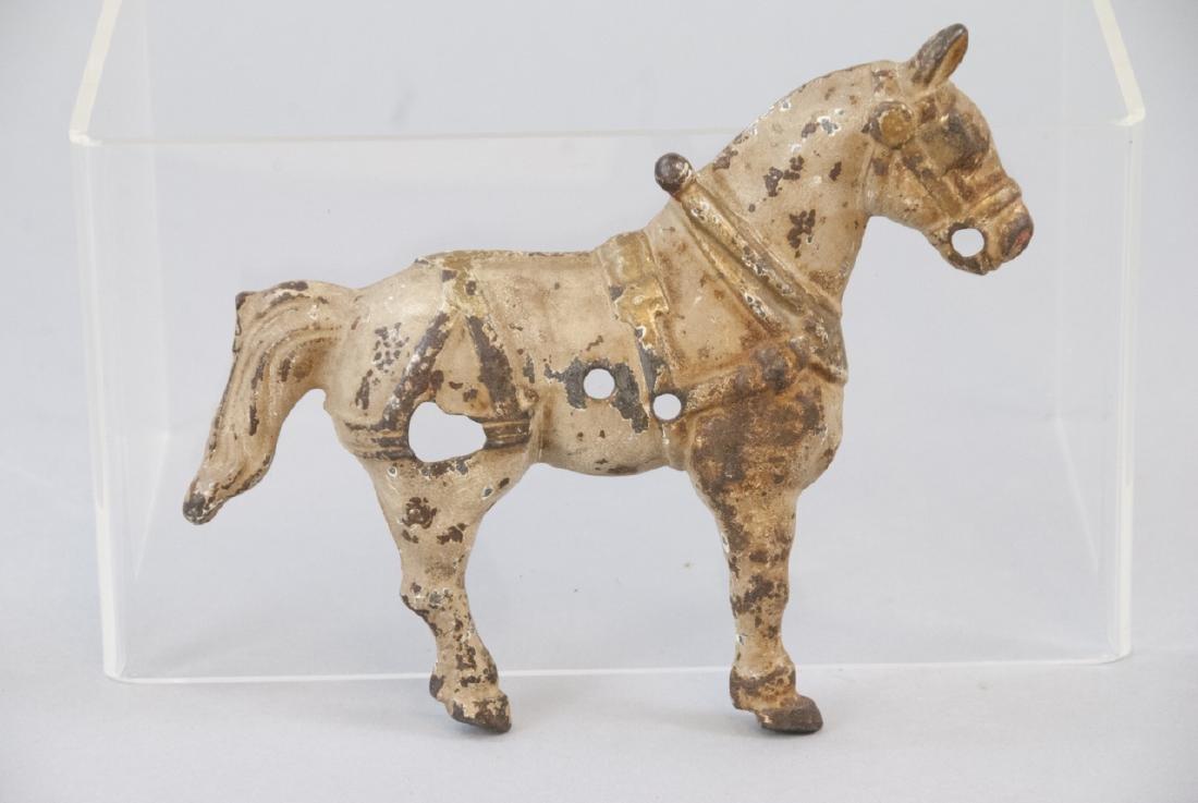 Antique Cast Iron Horse Statue w Original Paint