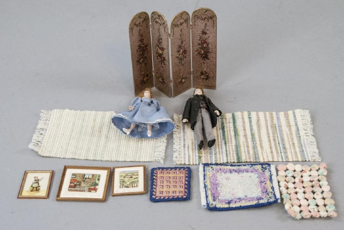 Dollhouse Dolls & Miniatures Incld. Artisan Item