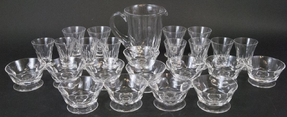 Sevres Crystal Dessert Dishes, Glassware, Pitcher