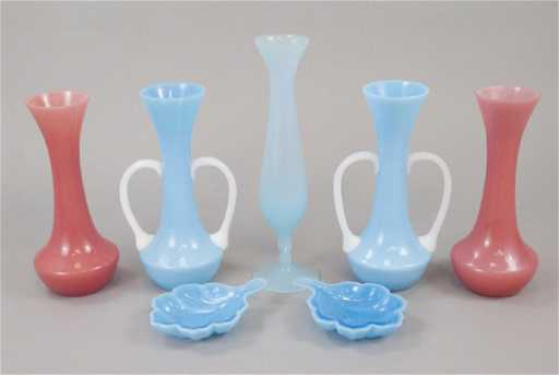 2d3ed6b8e8c0 French Sevres Opaline Crystal Bud Vases