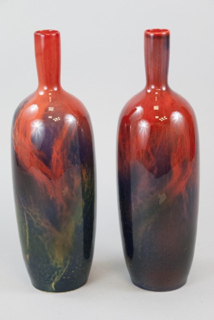 Royal Doulton Bone China Flambe Veined Vases