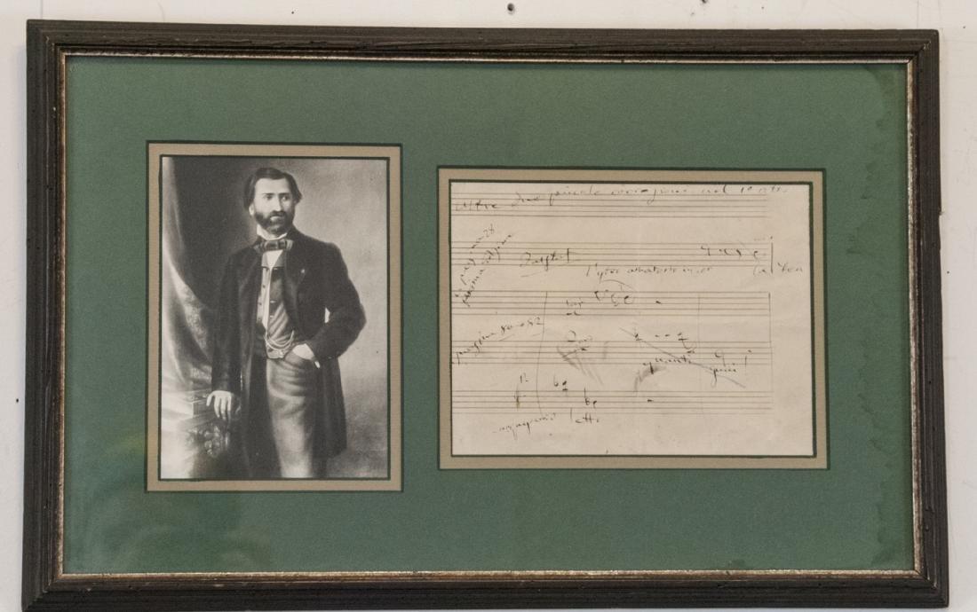 Giuseppe Verdi Original Sheet Music & Photograph