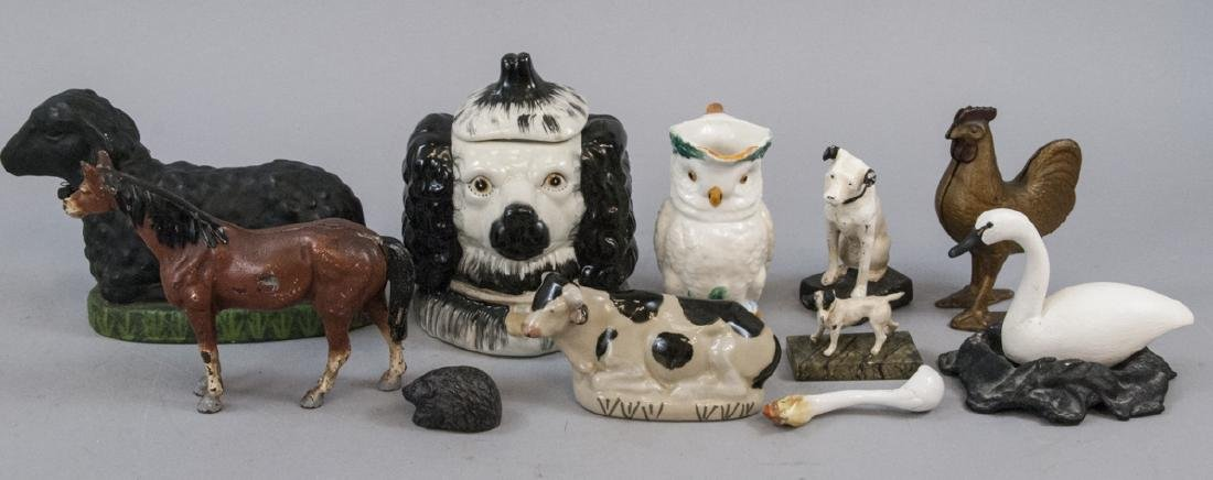 Collection Mixed Medium Animal Statues