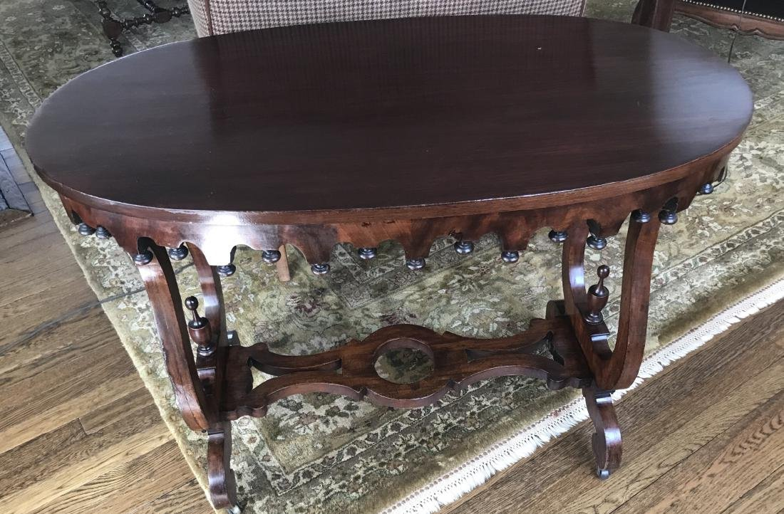 Antique 19th C Victorian Fretwork Carved End Table