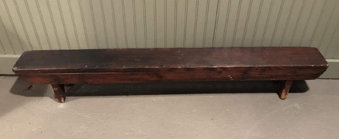 Antique 19th C Handmade American Country Bench