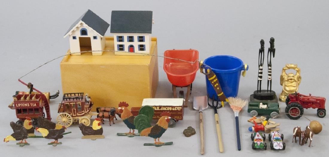 Group of Antique & Vintage Wood / Metal Toys