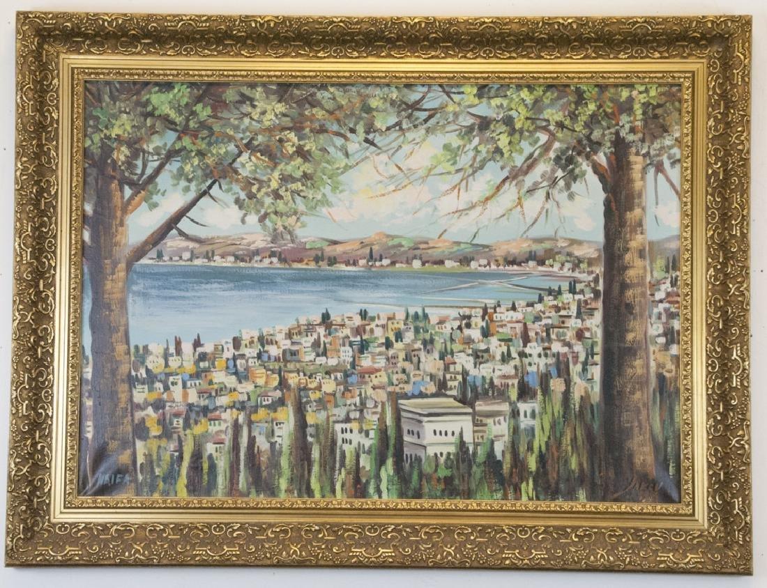Haifa Beach Oil Painting by Israeli Artist Yakov