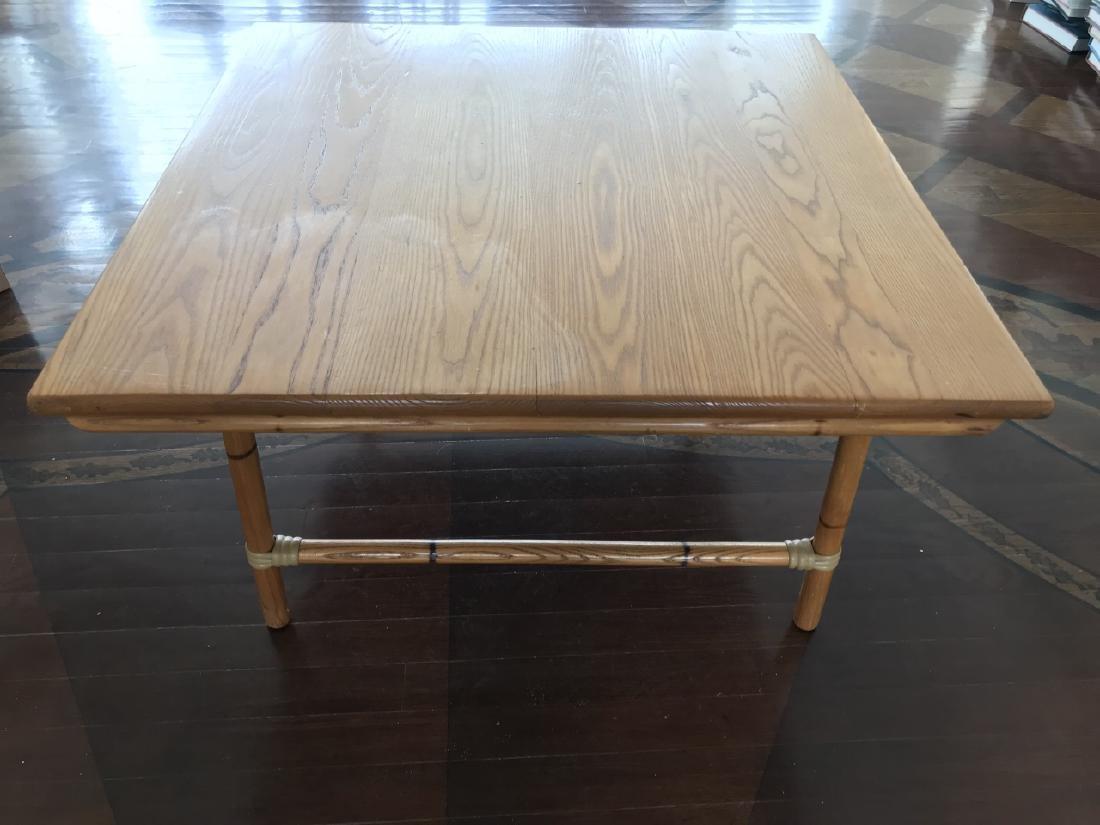 Vintage Bamboo & Wood Coffee Table