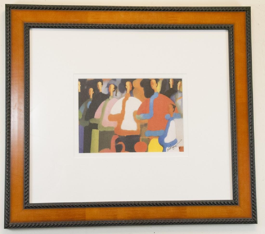 Signed & Framed Asian Print by Gates