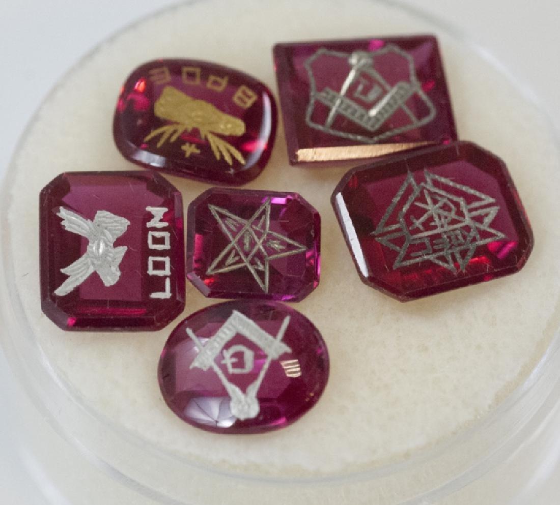 Six Antique Masonic / Fraternal Jewelry Intaglios