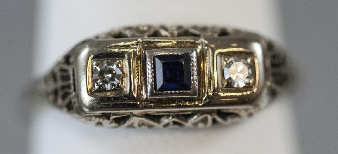 Antique Edwardian 14kt Rose Gold Diamond Ring