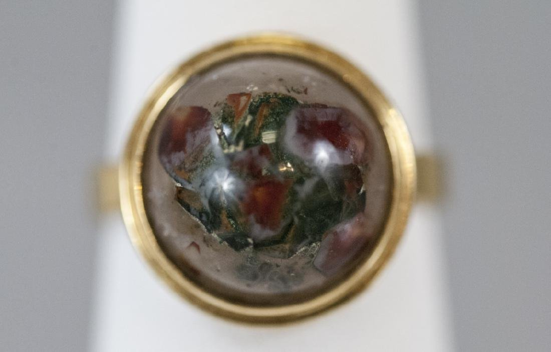 Estate 14kt Yellow Gold & Cabochon Agate Ring