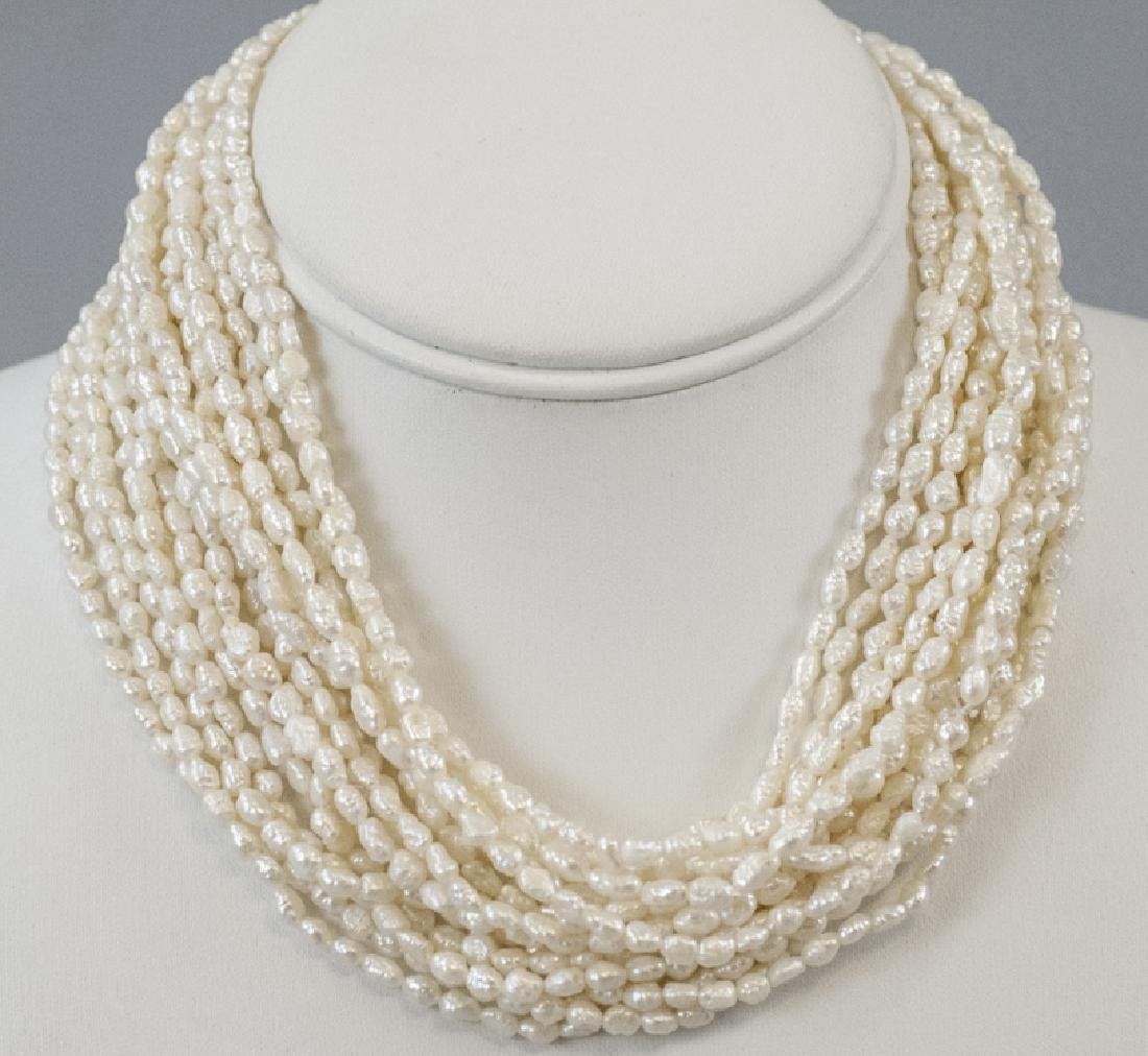 Estate Multi Strand Cultured Seed Pearl Necklace