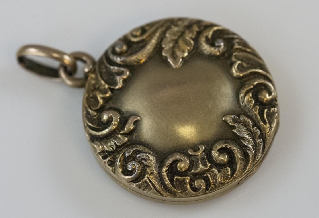 Antique 19th C 10kt Yellow Gold Locket Pendant