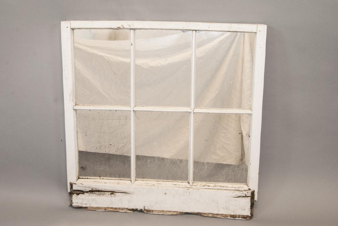 Antique 19th C Architectural Salvage Window Mirror