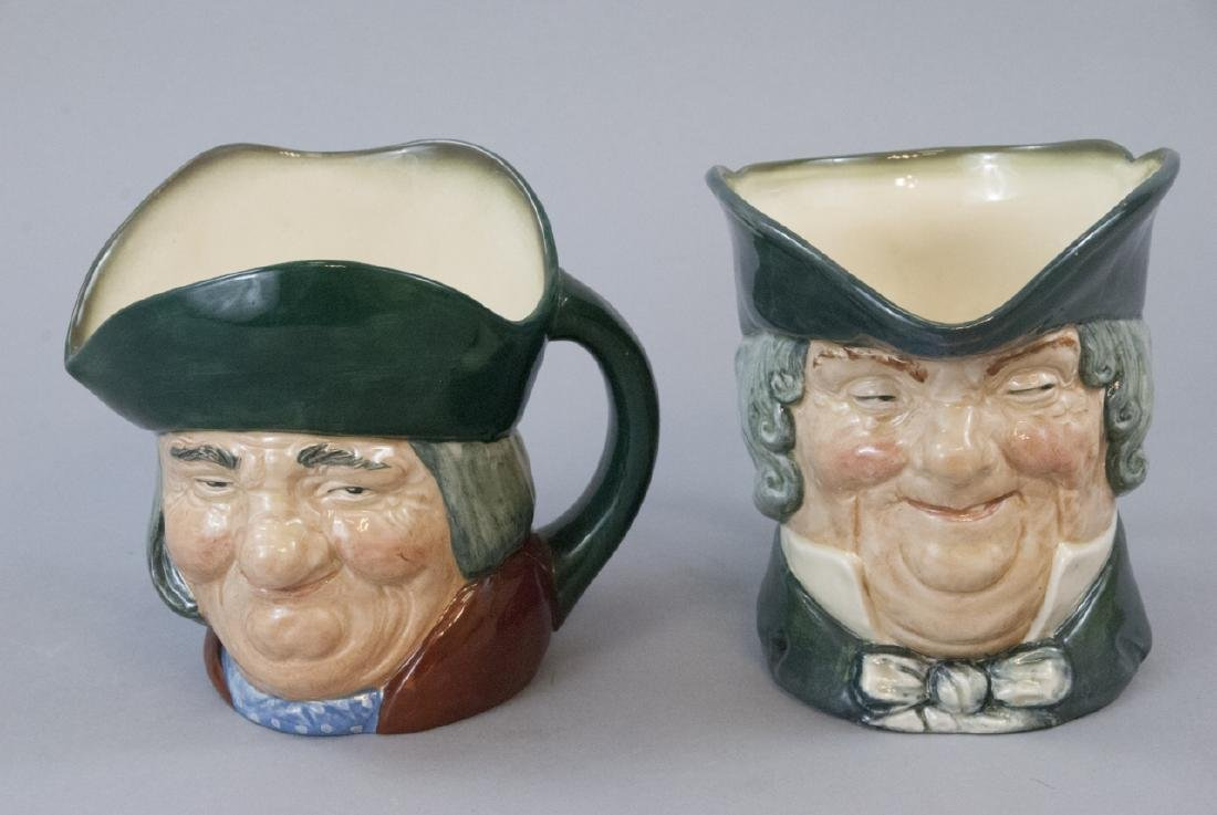 Two Vintage English Royal Doulton Toby Jugs
