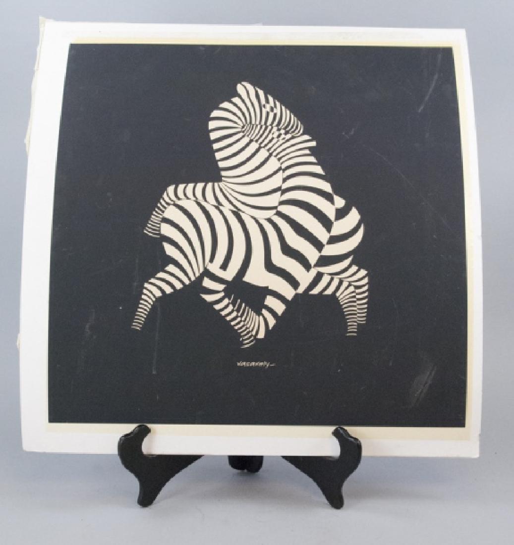 Victor Vasarely Zebra Vintage Lithograph Print