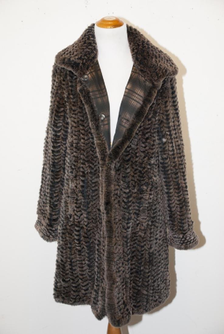 Quality Woven Mink Silk Lined Ladies Coat