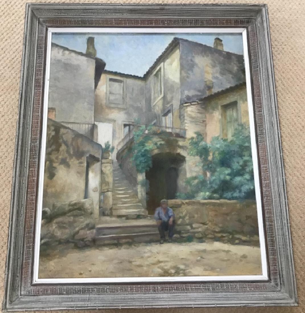 Paul Allier French Oil Painting of Street Scene