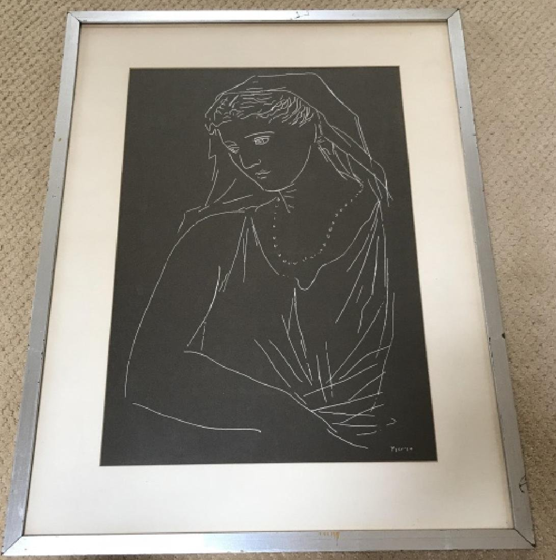 Pablo Picasso Framed Print of a Lady