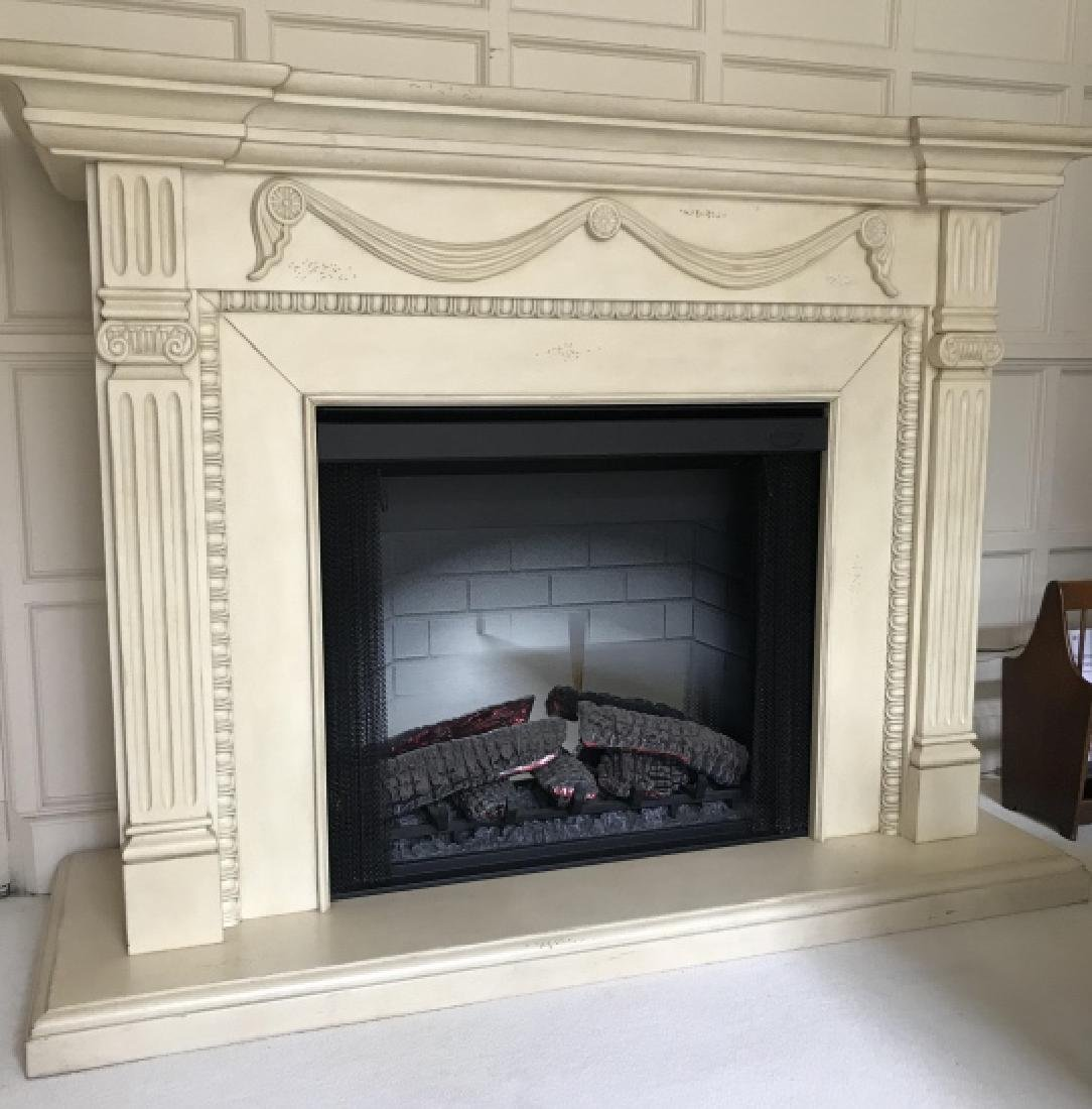 Neo Classical Style Free Standing Fireplace Unit