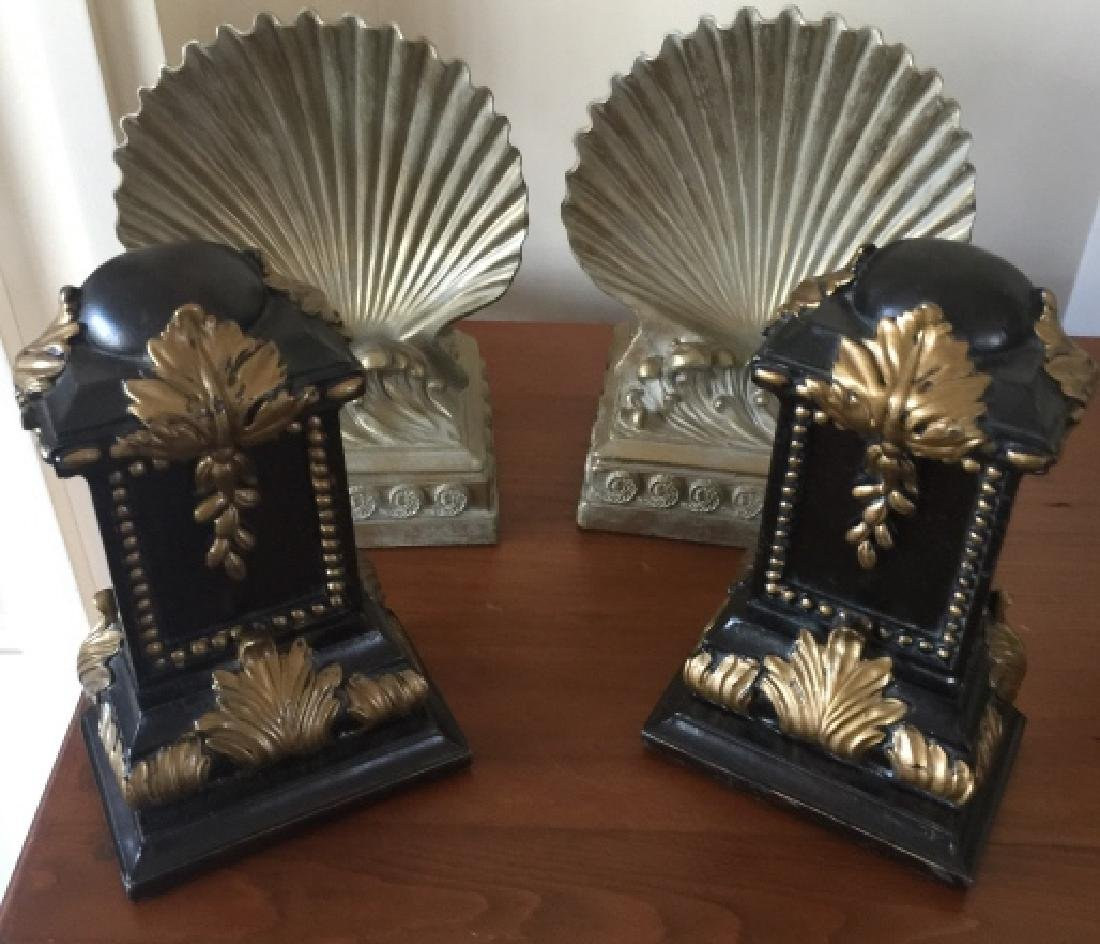 Two Pairs of Figural Neo Classical Bookends