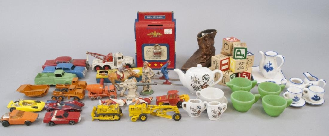 Boxed Lot Vintage Small Toys & Doll China Sets