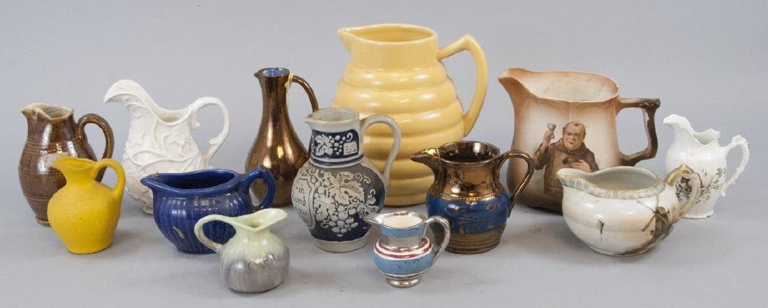 Assorted Vintage & Antique Creamers & Pitchers