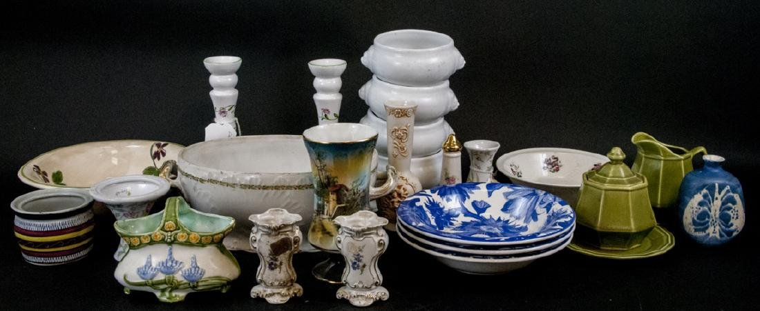 Box Lot of China & Porcelain Variety of Makers